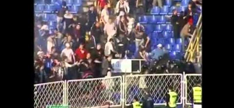 Videó: véres zavargás tört ki egy orosz bajnoki focimeccsen