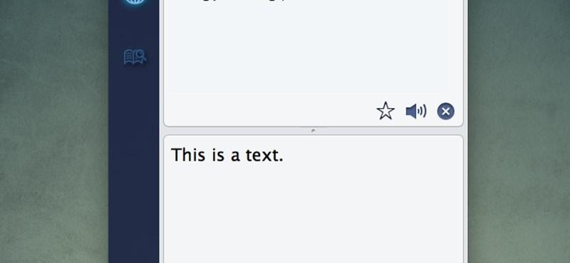 Fordítás több mint 50 nyelvről OS X alatt, felolvasással