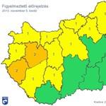 Figyelmeztetés az ország nagy részére: ömlik az eső egész nap – térkép
