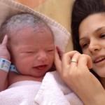 Fotók: Megszületett Szanyi kisfia, Márton