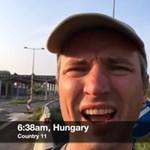 Lihegve döntött utazási világrekordot a magyar határon egy brit - videó, térkép