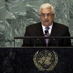 """A diadalmasan hazatérő Abbász """"palesztin tavaszról"""" beszél"""