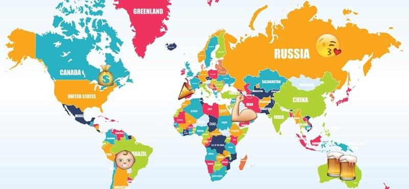 Meglepő eredményeket mutat az első emotikon-világtérkép