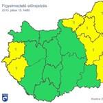 Zivatar, vihar: 9 megyében van citromsárga figyelmeztetés – térkép
