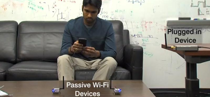 Később merül le a telefon: itt a wifi, ami tízezerszer kevesebb energiát fogyaszt