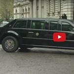 Rendesen megküzdött a keskeny utcával Barack Obama sofőrje – videó