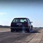 Szürreális, ahogy egy ilyen 1233 lóerősre gyúrt kettes Golf gyorsul