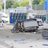 Benzinkutat tarolt le egy autós az M3-ason – fotók a helyszínről