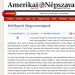 Kiakadt a Fidesz az Amerikai Népszava cikke miatt