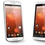 Már rendelhető a Google-féle Galaxy S4 és HTC One