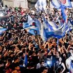 Gyalázatnak nevezte a WHO képviselője, ahogy a Napoli-drukkerek a kupagyőzelmet ünnepelték