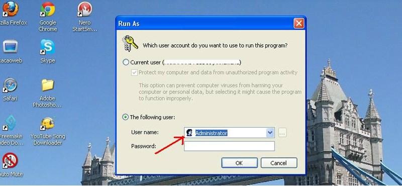 XP tipp: futtassunk alkalmazásokat más felhasználó nevében!