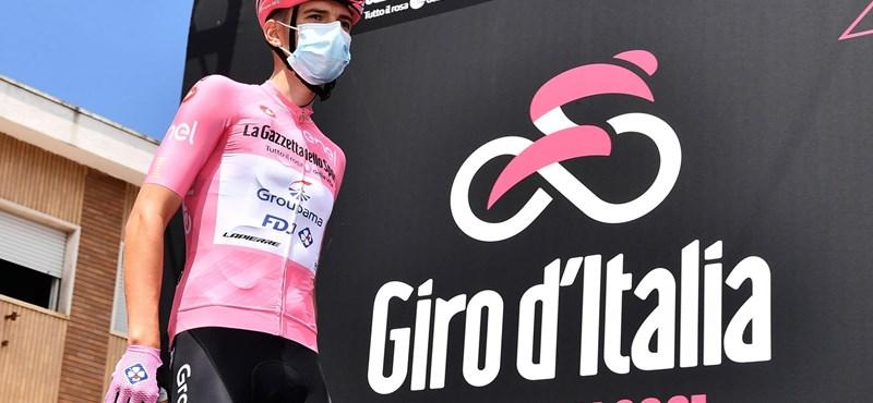 Újabb siker: Valter megőrizte az élen állónak járó rózsaszín trikót