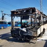 Porig égett a BKV egyik használt Volvo busza kedd éjjel