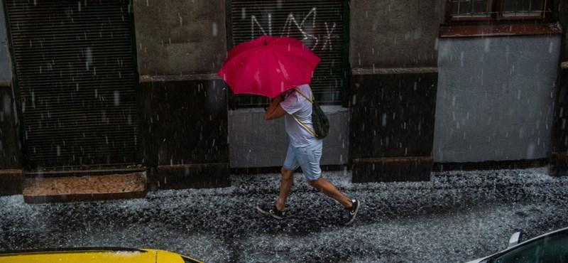 A vasárnap nagy részét elmossa az eső