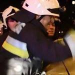 Videó is készült a Flórián téri halálos baleset helyszínén