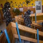 Újra akcióban a honvédség: újabb iskolákat fertőtlenítenek