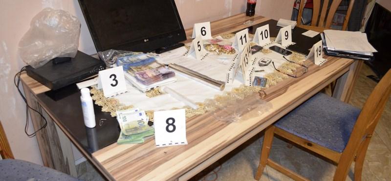 Kilenc településen csapott le drogdílerekre a rendőrség egyszerre