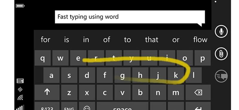 Gyorsabban és könnyebben gépelhet telefonján a különleges Microsoft-billentyűzettel