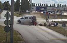 Nyolc baleset és mind ugyanott – tanulságos videót adott ki a rendőrség