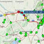 Leállt a vonatközlekedés a Budapest-Győr vonalon, pótlóbusz sincs