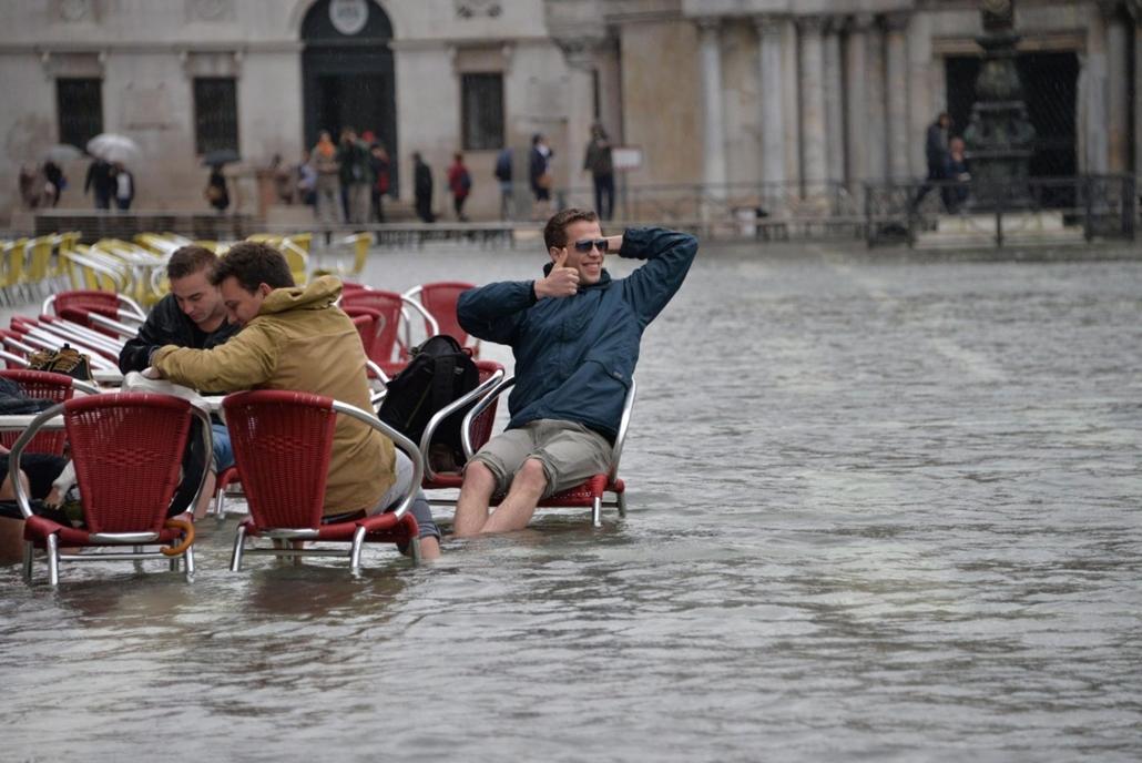 epa. hét képei - Árvíz Olaszországban, Velence 2014.11.05. Árvíz önti el a velencei Szent Márk teret 2014. november 5-én.