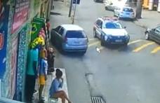 Elég ügyesen menekült egy autós a rendőrök elől - videó