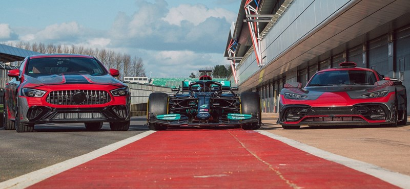 A Mercedes megmutatta bőven 800 lóerő feletti plugin hibridjét