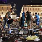 Tömegpánik Torinóban - több százan megsérültek