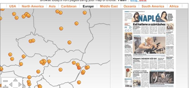 Virtuális múzeum napilapok címloldalaiból