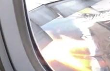 """""""Lángnyelvek csaptak ki a hajtóműből"""" – rémisztő videó készült a Philippine Airlines gépén"""