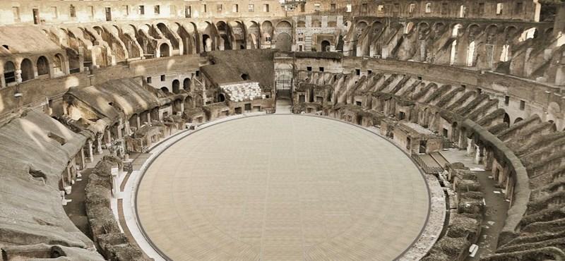 Újjáépítik a Colosseum küzdőterét, hogy hasonlítson az ókorira