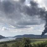 Tűz volt a szobi léüzemben, gáztározót is veszélyeztetett – fotó