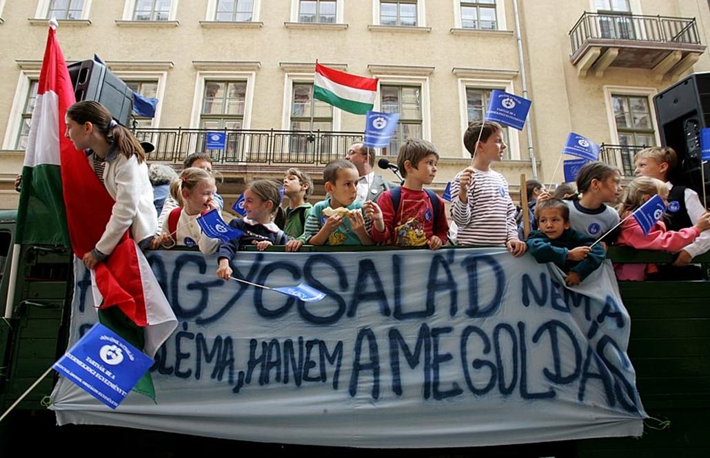 Sztrájkok,tüntetések az elmúlt években- 2006, Nagycsaládosok tüntetése