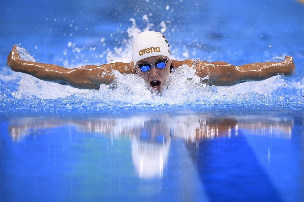 afp.16.08.06. - Rio de Janeiro, Brazília: Hosszú Katinka a női 400 méteres vegyesúszás döntőjében.