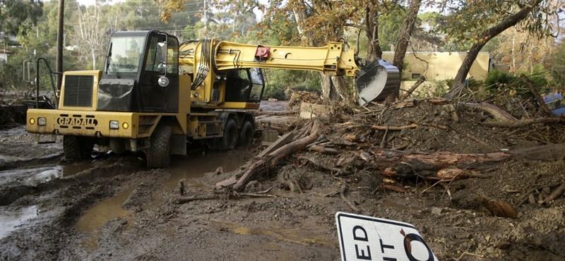 Tűzvész után esőzés és sárlavina Kaliforniában