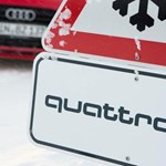 A koronavírus miatt síelők helyett egy sportos Audi kombi száguldott a sípályákon