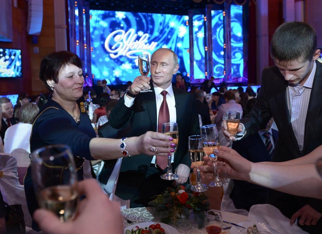 Újév, szilveszter 2014, Vlagyimir Putyin