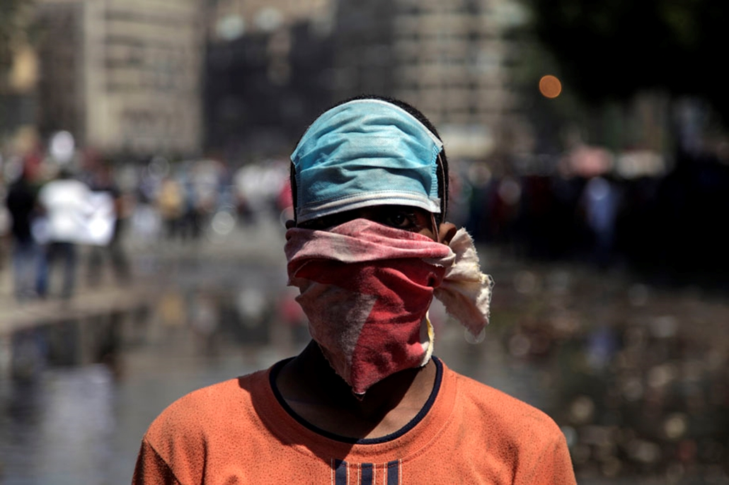 Egyiptomi tüntető , arab világ, tüntetések, mohammed próféta
