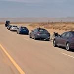 Vészfékezésre is képes a Hyundai sofőrök nélküli autós konvoja - videó
