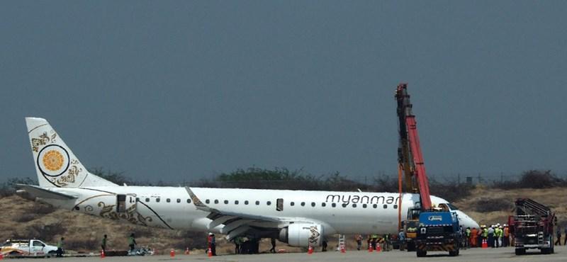 Videó: Bravúrosan tett le egy orrfutómű nélküli utasszállítót egy mianmari pilóta