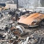 Felbecsülhetetlen értékű autógyűjtemény égett porrá, amelyről most képeket közöltek