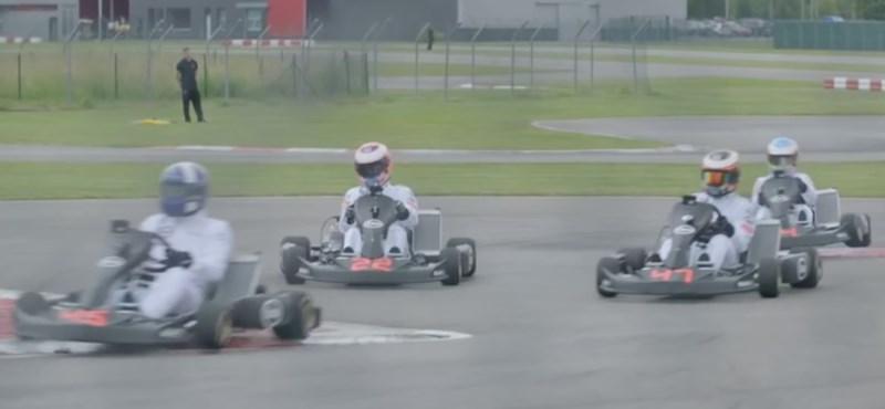 Videó: így csap össze három generáció öt F1-es pilótája – a gokart pályán