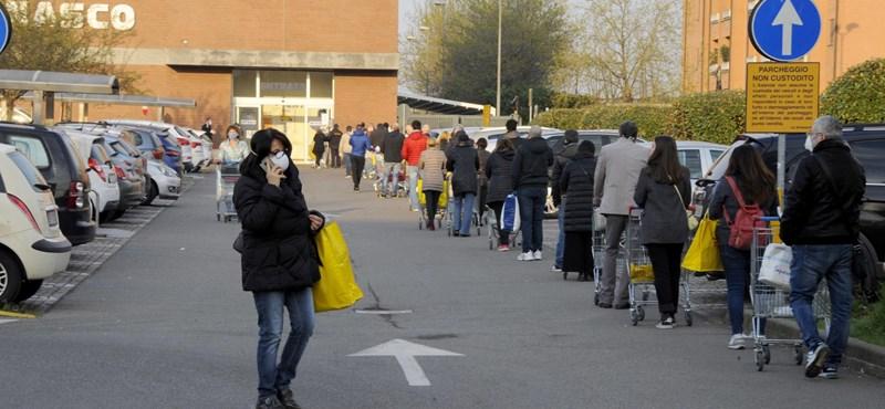 Olaszországban minden munkát leállítanak, ami nem létfontosságú