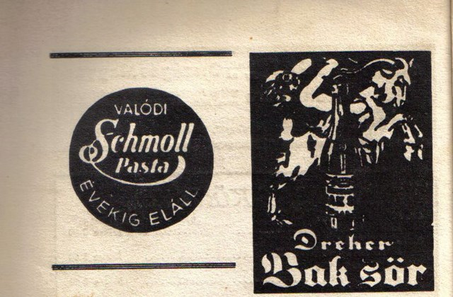 Schmoll Pasta és Dreher Bak reklám