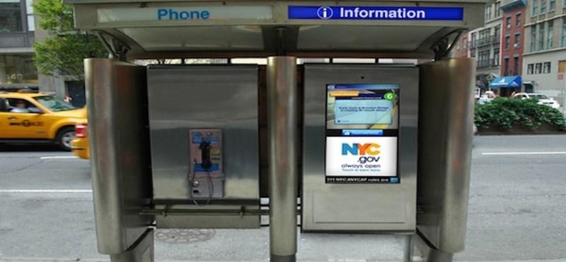 Napi kütyü – érintőképernyős telefonfülke