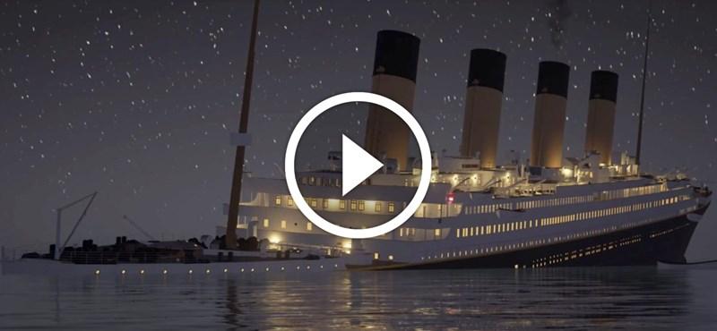 2 óra 40 perc: valós időben nézheti végig a Titanic süllyedését – videó