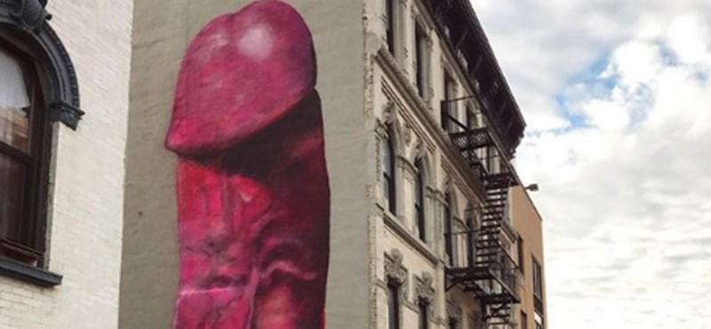 Öt emelet magas pénisz bukkant fel New Yorkban, de gyorsan lefestették - fotó
