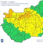 Növelték a riasztási fokozatot a dühöngő szél miatt - térkép