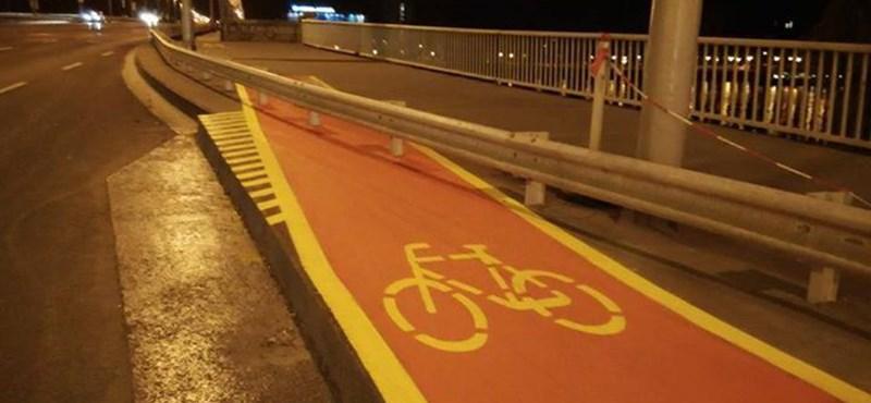 Megvan Budapest legabszurdabb bicikliútja - fotó